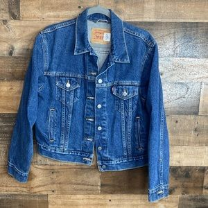 Levi Strauss Jean Denim Jacket Misses Size Large